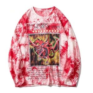 Tops - Red dragon vintage sweater